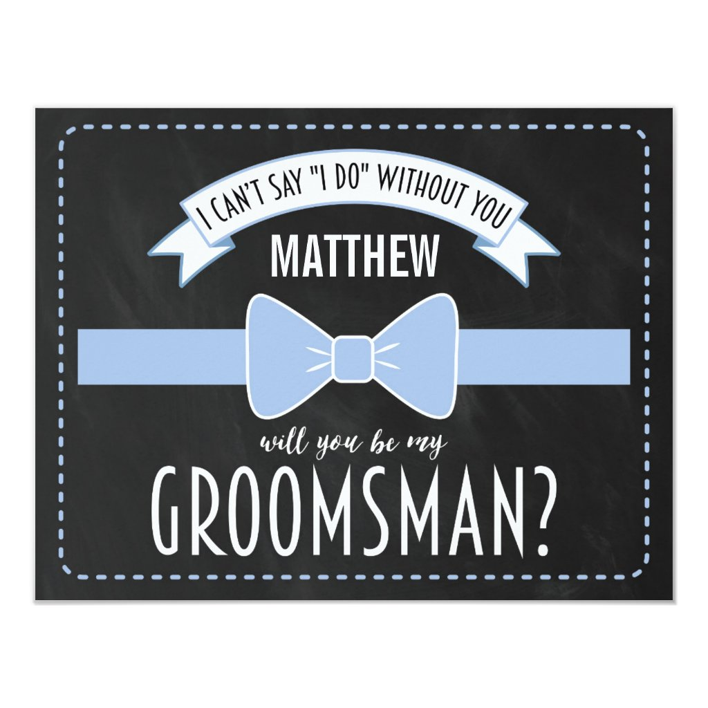 will you be my groomsman rustic country wedding invitations