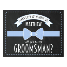 Modern Groomsmen Wedding Invitation Cards