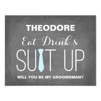 Will you be my Groomsman ? | Groomsmen 4.25x5.5 Paper Invitation Card