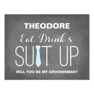 Will you be my Groomsman ? | Groomsmen 4.25x5.5 Paper Invitation Card