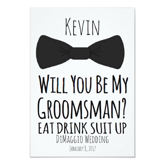 Will you be my groomsman groomsmen wedding invite zazzle will you be my groomsman groomsmen wedding invite junglespirit Image collections