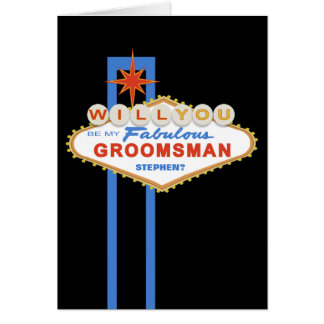 Will You Be My Groomsman Las Vegas Sign Card