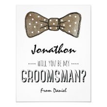 Will You Be My Groomsman? | Rustic Groomsmen Cards