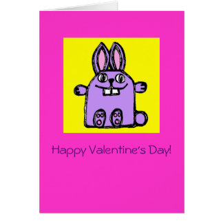 """""""Will You Be My Hunny Bunny?"""" - Valentine's Card"""