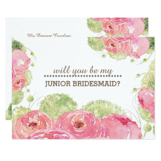 Will you be my Jr. Bridesmaid? Custom Invitations