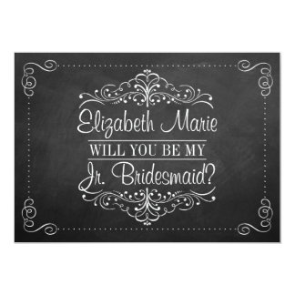 Will You Be My Jr. Bridesmaid? Ornate Chalkboard 5x7 Paper Invitation Card