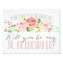 Will You Be My Junior Bridesmaid | Bridesmaid Invitation