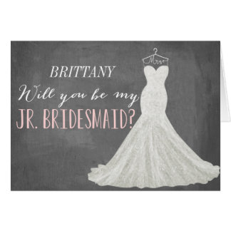 Will You Be My Junior Bridesmaid | Bridesmaid Stationery Note Card