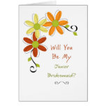 Will You Be My Junior Bridesmaid? Greeting Cards