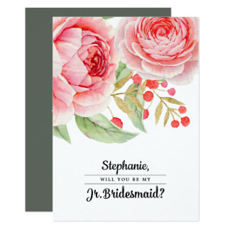 Will you be my Junior Bridesmaid? Invitation Card