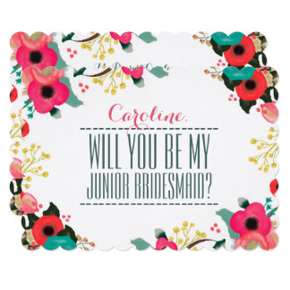 Will you be my Junior Bridesmaid? Invitation Cards