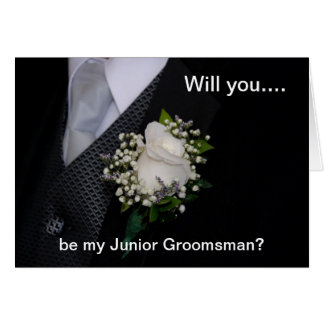 Will You Be My Junior Groomsman Card