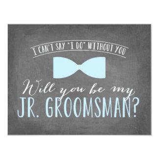 Will you be my Junior Groomsman ? | Groomsmen 4.25x5.5 Paper Invitation Card