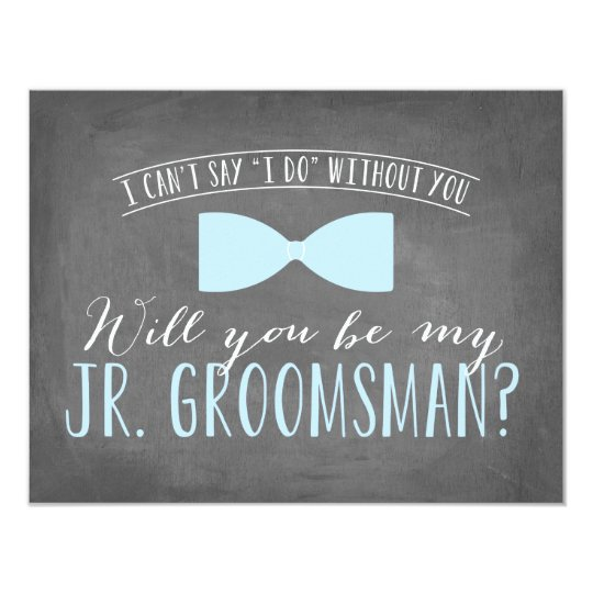 Will you be my junior groomsman groomsmen card zazzle will you be my junior groomsman groomsmen card junglespirit Image collections