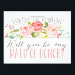 """Will You Be My Maid of Honor   Bridesmaid Card<br><div class=""""desc"""">Ask your maid of honor with a beautiful card that says&quot;I can&#39;t say &#39;I do&#39; without you.&quot; This card features lovely watercolored flowers and a mix of modern typography. Make it easy for them to say yes with this beautiful card. com com. com Stop by the shop today to see...</div>"""