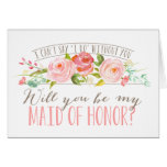 Will You Be My Maid of Honor | Bridesmaid Stationery Note Card