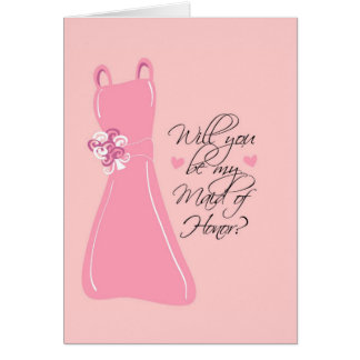 """Will you be my Maid of Honor?"" Card"