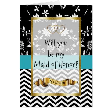 Wedding Themed Will you be my Maid of Honor Card