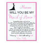 Will you be my Maid of Honor? Card Custom Invite