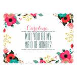 "Will you be my Maid of Honor? Custom Invitations 5"" X 7"" Invitation Card"