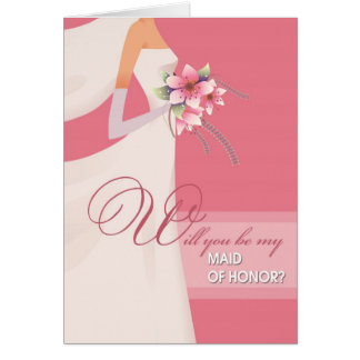 Will you be my Maid of Honor? Customizable Cards