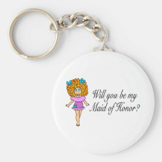 Will You Be My Maid Of Honor? (Girl) Keychain