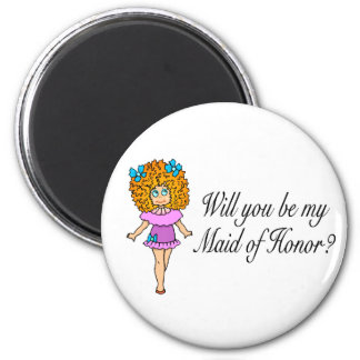 Will You Be My Maid Of Honor (Girl) Fridge Magnets
