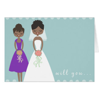 Will You Be My Maid of Honor Greeting Card 2