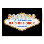 Will You Be My Maid of Honor Las Vegas Sign Card