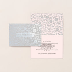Will you be my Maid of Honor. Luxury Foil Card