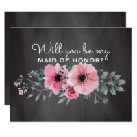 Will You Be My Maid of Honor | Maid of Honor Card