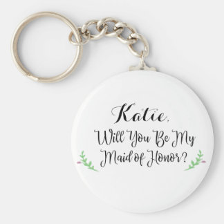 Will You Be My Maid of Honor Personalized Keychain