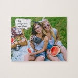 """Will you be my Maid of Honor Photo Proposal Gift Jigsaw Puzzle<br><div class=""""desc"""">Will You Be My .. bridesmaid, maid of honor, matron of honor or flower girl gift puzzle wedding invitation that will make your girls smile and leave them with a keepsake that they will enjoy for many years to come! Add your custom wording to this design by using the &quot;Edit...</div>"""