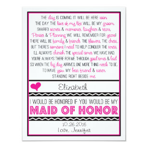 maid honor poem gifts on zazzle