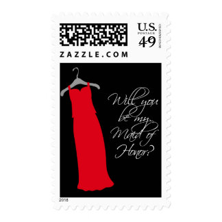 """Will you be my Maid of Honor?"" Postage Stamps"