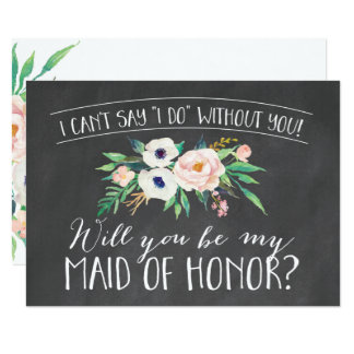 Will You Be My Maid Of Honor Proposal Request Card