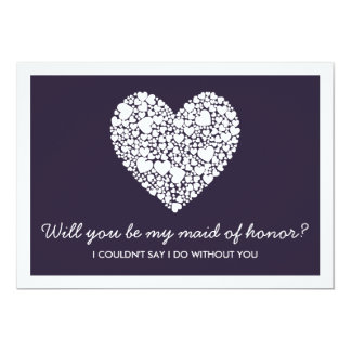 Will You Be My Maid Of Honor? Purple Heart Card