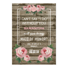 Will You Be My Maid of Honor | Rustic Vintage Cards