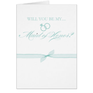 Will You Be My Maid of Honor Stationery Note Card
