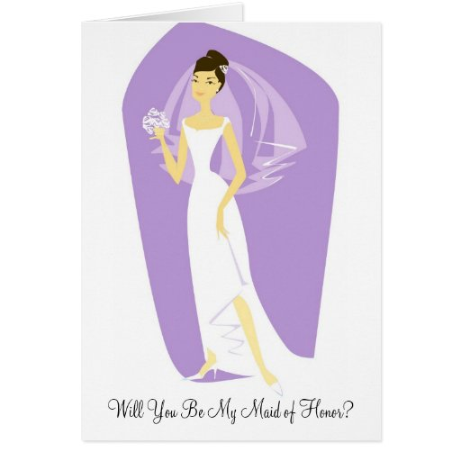 Will You Be My Maid of Honor? Wedding Invitations Greeting Cards