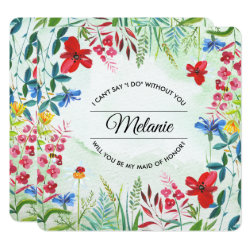Will you be my Maid of Honor? Wild Meadow Invite