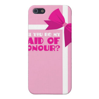 Will you be my maid of honour? pink bows case for iPhone SE/5/5s