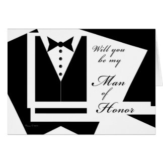 Will you be my Man of Honor Card