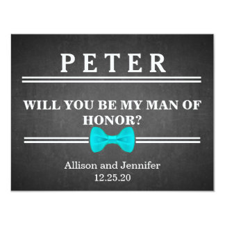 Will you be my Man of Honor? Personalized Card