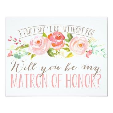 NBpaperco Will You Be My Matron of Honor | Bridesmaid Card