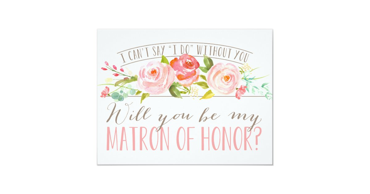 Honor Or Honour On Wedding Invitations: Will You Be My Matron Of Honor
