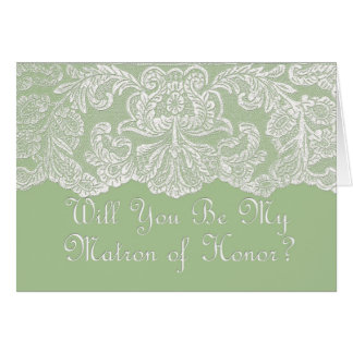 will you be my matron of honor cards
