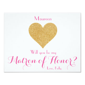 Will you be my Matron of Honor? Card