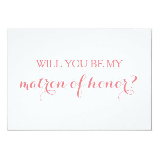 Will You Be My Matron of Honor Card Bridal Party