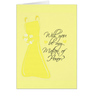 """Will you be my Matron of Honor?"" Cards"